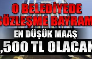 İzmir'in o belediyesinde sözleşme bayramı