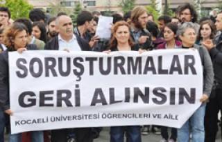 Üniversiteliler Gözaltı ve Soruşturmaları Protesto...