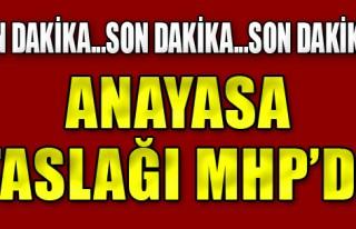 Anayasa Taslağı MHP'de