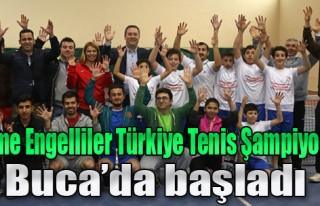 İşitme Engelli Türkiye Tenis Şampiyonası Buca'da...
