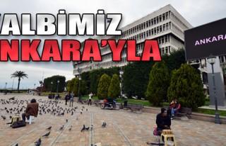 İzmir, Ankara'nın Acısına Ortak