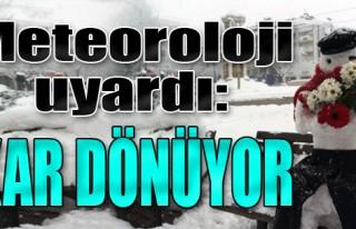 Meteoroloji Uyardı: Kar Dönüyor