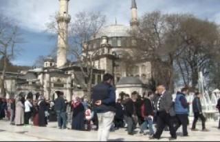 Eyüp Sultan'da YGS Duası
