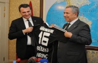 Beşiktaş Başkanı Orman'ın Arınç'ı Ziyareti