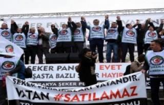 Lüleburgaz'da 'şeker Fabrikası' protestosu