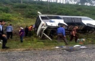 Piknik Dönüşü Kaza: 12 Öğrenci Yaralandı