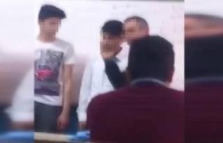 Sınıfta Öğretmen Dayağı Öğrenci Kamerasında