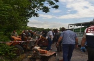 Tanker-Traktör Çarpıştı; 3 Ölü
