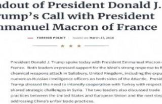 Trump'tan Türkiye vurgusu