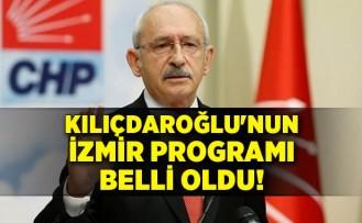 CHP Genel Başkanı Kılıçdaroğlu'nun İzmir programı belli oldu!
