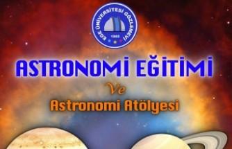 EÜ Gözlemevinde minikler uzayı online keşfedecek