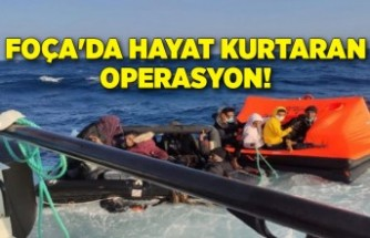 Foça'da hayat kurtaran operasyon!