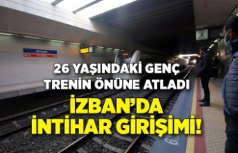 İZBAN'da intihar girişimi! Trenin önüne atladı
