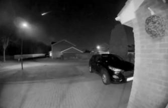 Dev meteorun düşüşü güvenlik kamerasına yansıdı