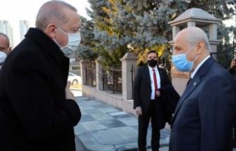 Erdoğan'dan, Bahçeli'ye evinde ziyaret