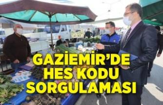 Gaziemir'de HES kodu sorgulaması