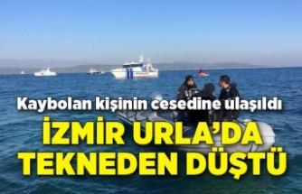 İzmir Urla'da tekneden düşüp, kaybolan kişinin cesedine ulaşıldı