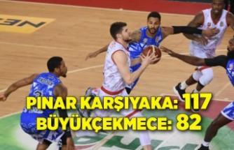 Pınar Karşıyaka: 117 - Büyükçekmece Basketbol: 82