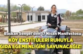 Başkan Sengel'den 17 Nisan Manifestosu