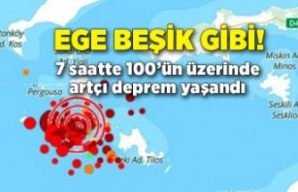 Ege beşik gibi sallanıyor: 7 saatte 100'ün üzerinde artçı deprem yaşandı