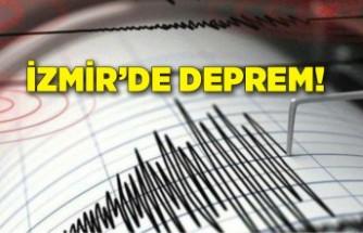 İzmir'de deprem meydana geldi!