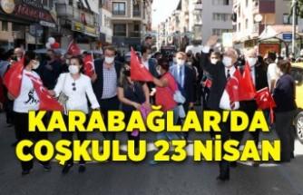 Karabağlar'da kısıtlamaya rağmen coşkulu 23 Nisan