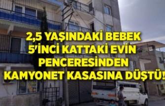 5'inci kattaki evin penceresinden kamyonet kasasına düşen çocuk yaralandı