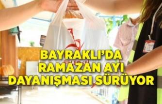 Bayraklı'da Ramazan ayı dayanışması sürüyor