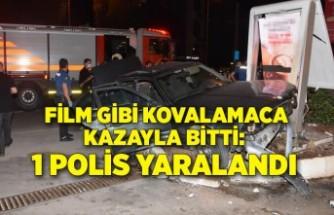Film gibi kovalamaca kazayla bitti: 1 polis yaralandı