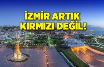 İzmir artık kırmızı değil!