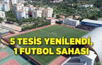 5 tesis yenilendi, 1 yeni futbol sahası kuruldu