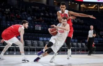 A Milli Erkek Basketbol Takımı, hazırlık maçında galip