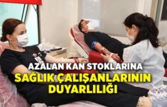 Azalan kan stoklarına sağlık çalışanlarının duyarlılığı