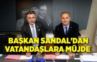 Başkan Sandal'dan vatandaşlara müjde