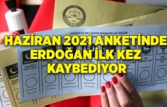 Haziran 2021 anketinde Erdoğan ilk kez kaybediyor