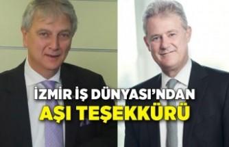 İzmir İş Dünyası'ndan aşı teşekkürü