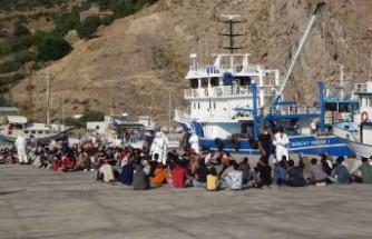 Ayvacık açıklarında 231 kaçak göçmen yakalandı