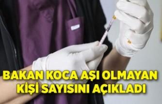 Bakan Koca aşı olmayan kişi sayısını açıkladı
