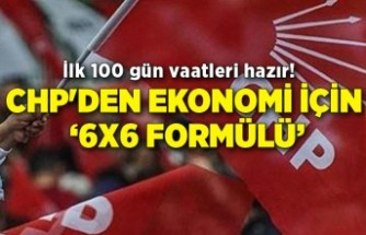 CHP'den ekonomi için '6x6 formülü'