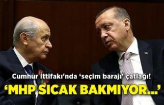 Cumhur İttifakı'nda 'seçim barajı' çatlağı! 'MHP sıcak bakmıyor…'