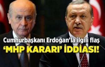 Cumhurbaşkanı Erdoğan'la ilgili flaş 'MHP kararı' iddiası! 'Çıkış yolu arıyor…'