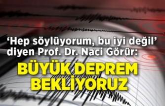 'Hep söylüyorum, bu iyi değil' diyen Prof. Dr. Naci Görür: Büyük deprem bekliyoruz