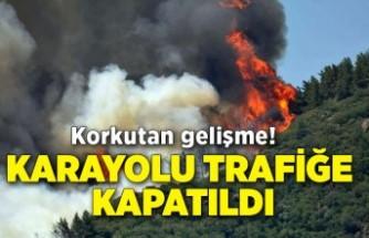 Korkutan gelişme! Karayolu trafiğe kapatıldı
