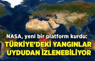Türkiye'deki yangınlar uydudan izlenebiliyor