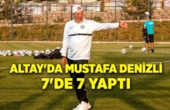 Altay'da Mustafa Denizli 7'de 7 yaptı
