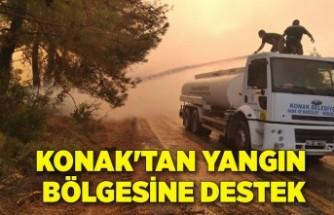Konak'tan yangın bölgesine destek