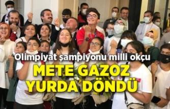 Olimpiyat şampiyonu milli okçu Mete Gazoz yurda döndü