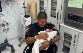 ABD'de polis, 1 aylık bebeği tuttu
