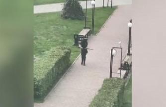 Perm Üniversitesi silahlı saldırganı kamerada