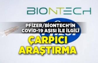 Pfizer/BioNTech'in Covid-19 aşısı ile ilgili çarpıcı araştırma